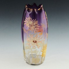 Legras Mont Joye Gilded and Enamelled Vase c1910