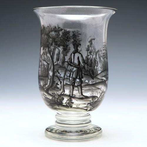 Steinschoneau Schwartzlot Glass Goblet c1890