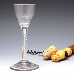 Double Series Mercury Twist Wine Glass c1750