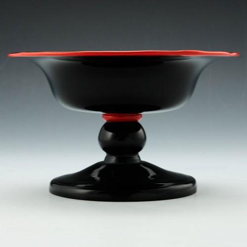 Kralik Deep Amethyst Footed Bowl c1930
