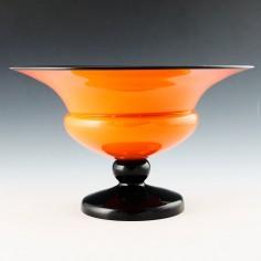 Large Kralik Footed Glass Bowl c1925