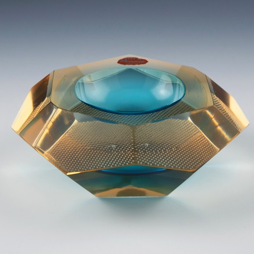 Murano Sommerso Faceted Bowl c1965