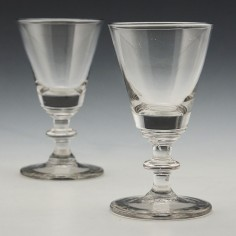 Pair Victorian Bucket Bowl Rummers c1860