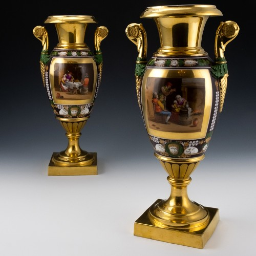 Pair of Paris Porcelain Vases c1825