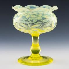John Walsh Opaline Broacde Pedestal Bowl c1900