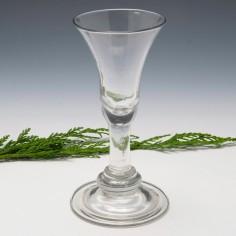 Georgian Baluster Wine Glass Annular Knop c1735
