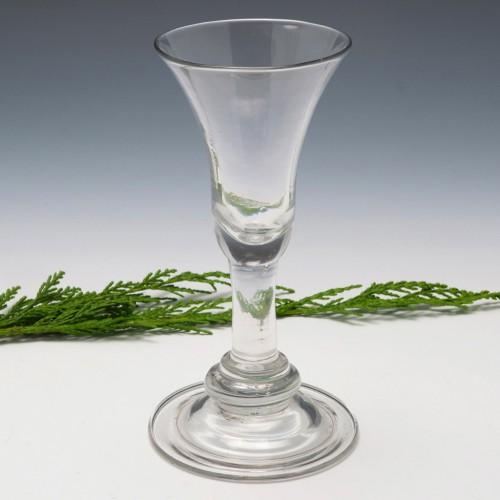 Georgian Baluster Wine Glass c1735