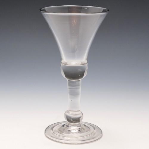 Georgian Baluster Wine Glass c1740