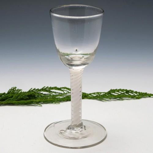 Double Series Opaque Twist Wine Glass c1790