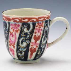 Worcester Queen Charlotte Pattern Coffee Cup c1770