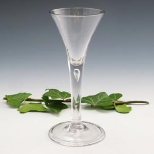 Georgian Plain Stemmed Wine Glass c1750