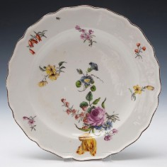 Chelsea Porcelain Red Anchor Period Dessert Plate c1755