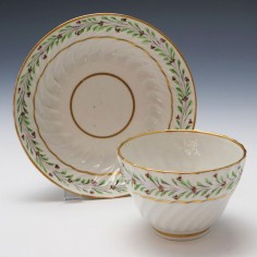 Rare Neale & Co Porcelain Teabowl and Saucer c1785