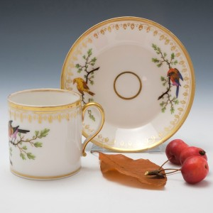 Paris Porcelain Coffee Can and Saucer c1820