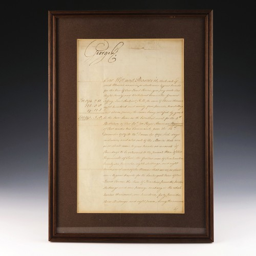 Signed By George III – A Payment Request for American Regiment of Foot 1795