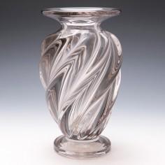 A Spiral Ribbed Baluster Vase