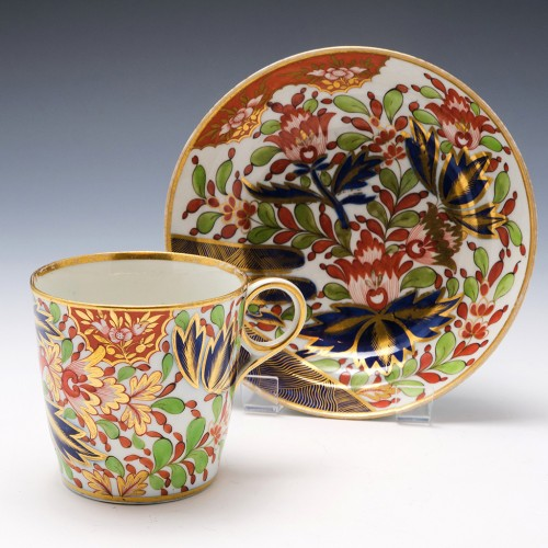Chamberlains Worcester Coffee Can and Saucer Pattern 276 c1810