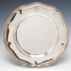 Queen Anne Silver Dinner Plate London  c.1710