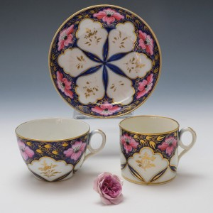 New Hall Porcelain Pattern 1474 Trio c1815