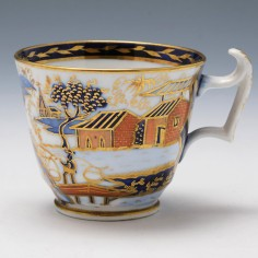 New Hall Pattern 1163 Coffee Cup c1820