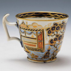 A New Hall Pattern 1163 Coffee Cup c1820
