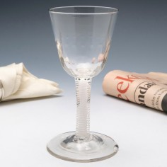 Georgian Double Opaque Twist Glass Goblet c1760