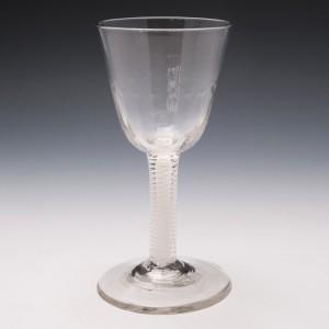 18th Century Opaque Twist Wine Goblet c1750