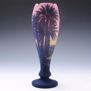 A Signed Pantin DeVez Three Colur Cameo Landscape Vase c1910