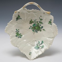Worcester James Giles Decorated Leaf Dish c1770