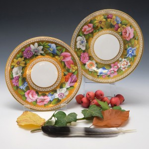 Pair of Spode Plates Pattern 2049  c1815