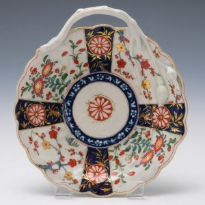 Worcester Queens Pattern Blind Earl Sweetmeat Dish 1770