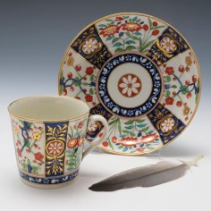 Flight and Barr Cofffe Can and Saucer c1800