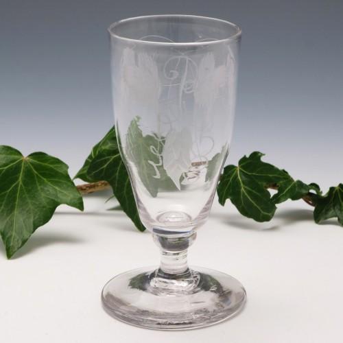 Engraved Dwarf Ale Glass c1780
