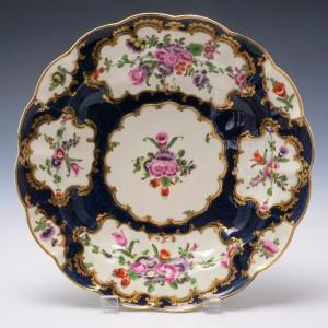 Worcester Porcelain Scale Blue Junket Dish c1770