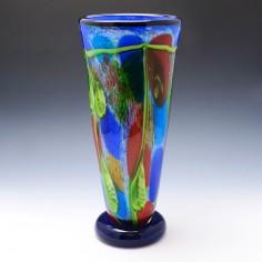Very Tall Striking Murano Triple Cased Vase c1965