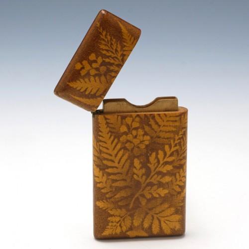 Mauchline Ware Fern Card Case c1890