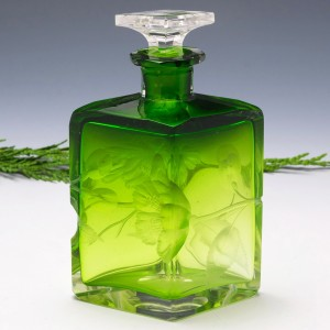Moser Carved Glass Perfume Bottle 1900-05