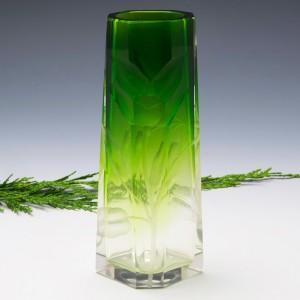 Moser Carved Bud Vase 1900-05