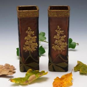 A Pair of Mont Joye Legras Vases c1900