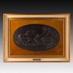 'The Frightened Horse' Wedgwood Black Basalt Plaque 1973 Limited Edition