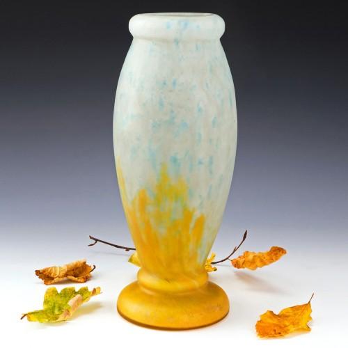 Daum Nancy Internally Mottled Vase c1920