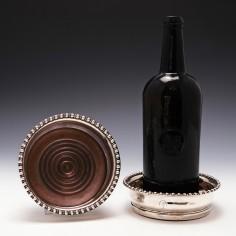 Pair of George III Clan Keith Gadrooned Silver Wine Coasters Sheffield 1808