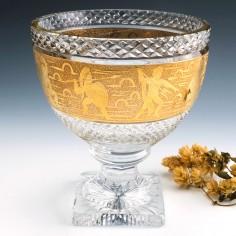 Val St Lambert Greco Roman Warrior Pedestal Bowl c1920