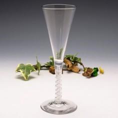 Mixed Twist Stem Georgian Ale Glass c1765