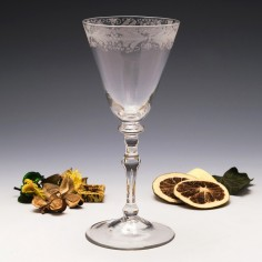 Georgian Light Baluster Wine Glass c1745