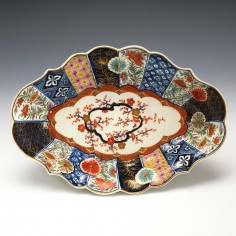 First Period Worcester Old Mosaic Lozenge Dish c1775