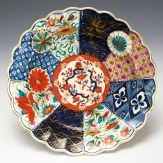 Worcester Porcelain Old Mosaic Pattern Dish c1775