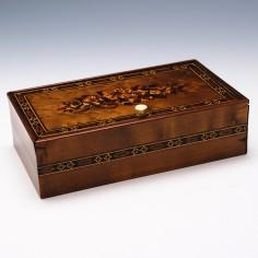 Tunbridge Ware Floral Trinket Box  c1860