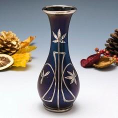 Loetz Silver Overlay Vase c1898