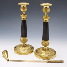 Pair 19th Century French Ormolu Candlesticks
